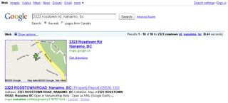 GeoREST Nanaimo Google Search