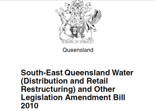 Queensland Water Infrastructure Bill