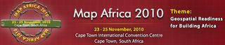 Map Africa 2010 logo header