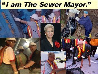Atlanta Sewer Mayor Shirley Franklin