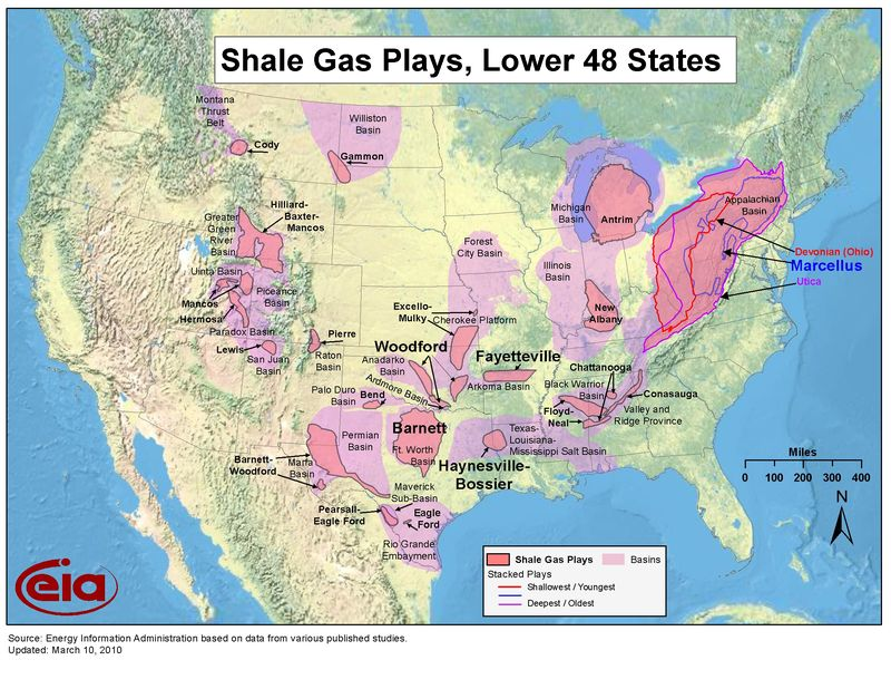 Shale Gas Plays US EIA 2010