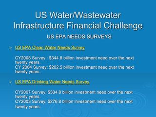 EPA Water and Wastewater Needs Surveys - Shandling