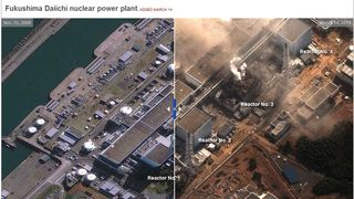 Fukushima Daiichi before and after NYTIMES