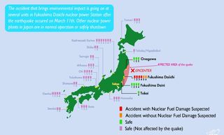 Nuclear Power Plants Japan Status after March 11 Earthquake JAIF