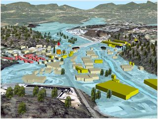 Asheville 2004 Flood Simulation