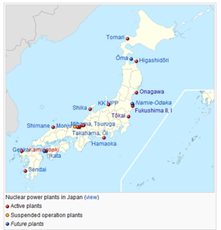 Nuclear Power Plants Japan