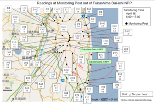 Fukushima Radiation Dosage Levels 20 km and more from NPP April 16 MEXT