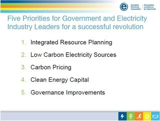 Canadian Electricity Association Priorities for Goct and Industry