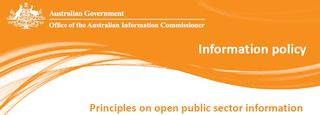 Open data principles Office of the Australian Information Commissioner