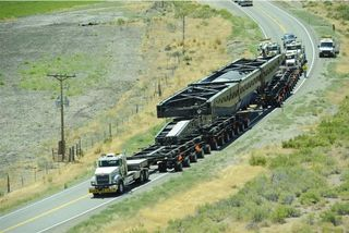 Perkins 400 ft trailer for nuclear power plant components