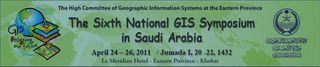 6th National GIS Symposium in Saudi Arabia Logo