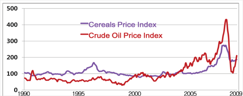 Cereal and crude oil prices FAO 2011