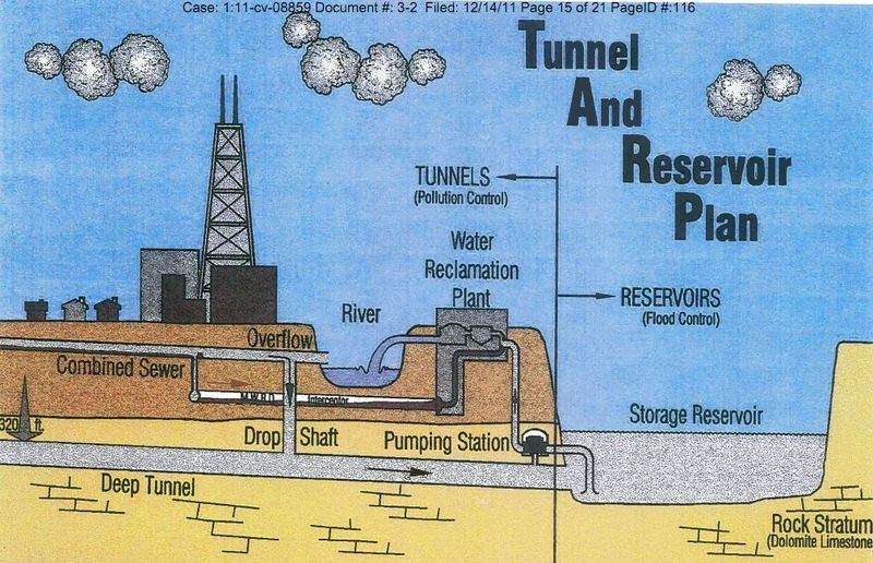 Chicago combines sewer tunnel and reservoir system
