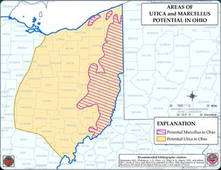 Shale gas Marcellus and Utica potential northeastern Ohio DNR