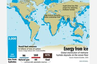 Methane hydrate deposits Graphic der Spiegel