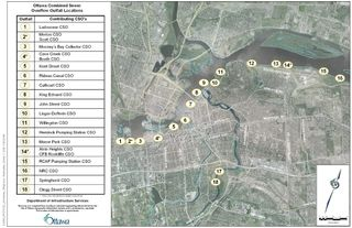Ottawa sewage overflow locations