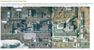 Fukushima Daiichi Before and After Mar 17 Geoeye