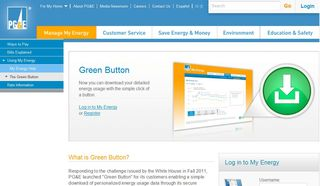 PGandE Green Button Web Site