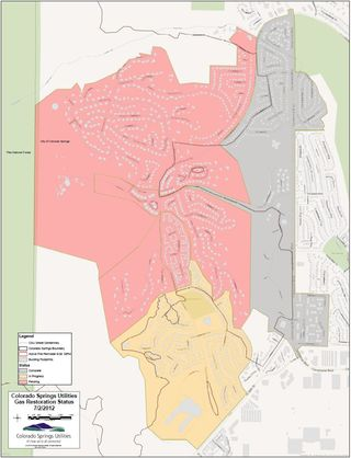 Colorado Springs gas restoration status Jul 2 2012