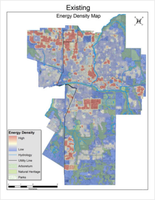 Energy density mapping Guelph