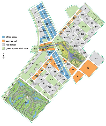 Songdo map_masterplan