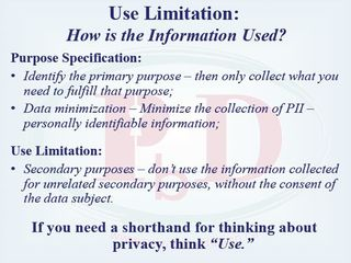 Privacy and use limitation Cavoukian