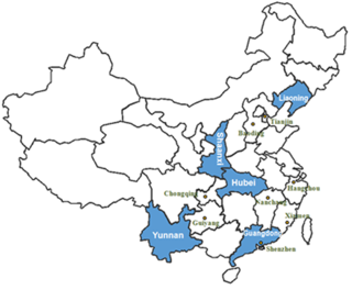 China provinces participating in lwo carbon pilot program chinamap_large