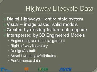 Highway lifecycle data - digital highways Ron Singh