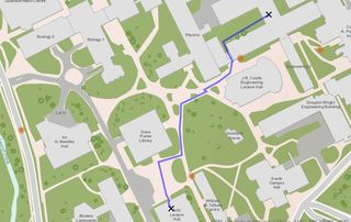 U Waterloo Campus Map.Between The Poles Using Gis To Avoid Nesting Geese On The