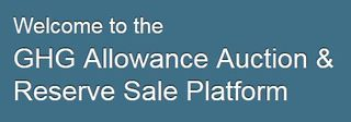 California GHG Allowance Auction portal