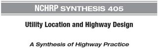Highway design and utility location NCHRP