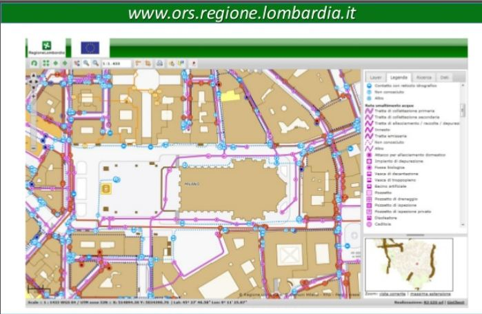 Lombardy underground infrastructure example R3 GIS