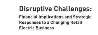 Disruptive challenges electric power EEI