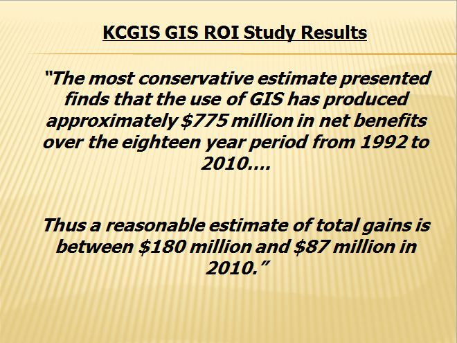 KCGIS cost benefit results