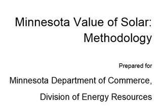 Value of Solar Minnesota 2014