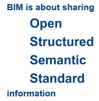 BIM is about open structured semantic standard information