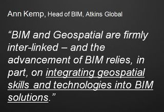 BIM and geospatial integration Anne Kemp