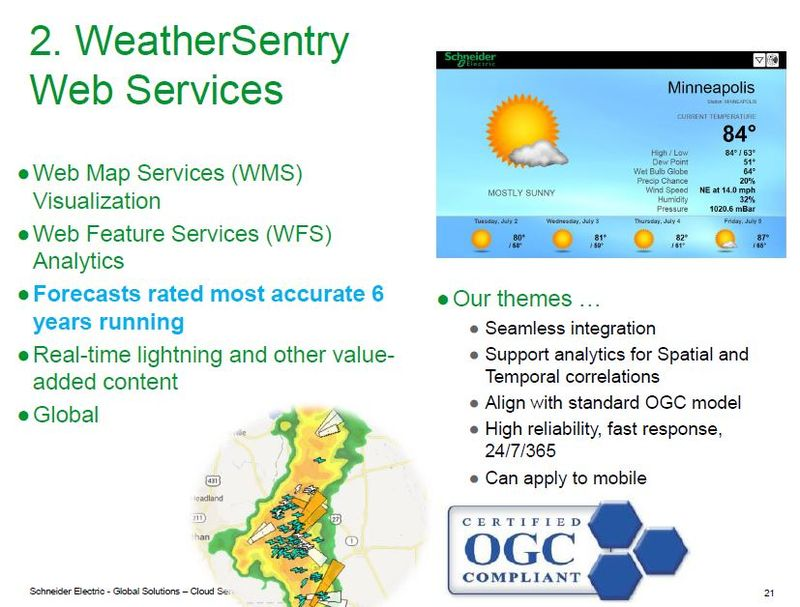Schneider Electric weather services and OGC web services