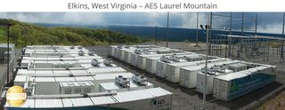 AES Laurel Mountain energy storage 64 MW