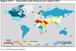 Water resources per capita IEA 2012