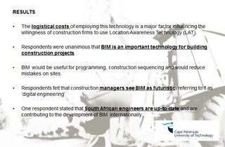 BIM and location-aware technology South Africa 1
