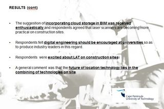 BIM and location-aware technology South Africa 2