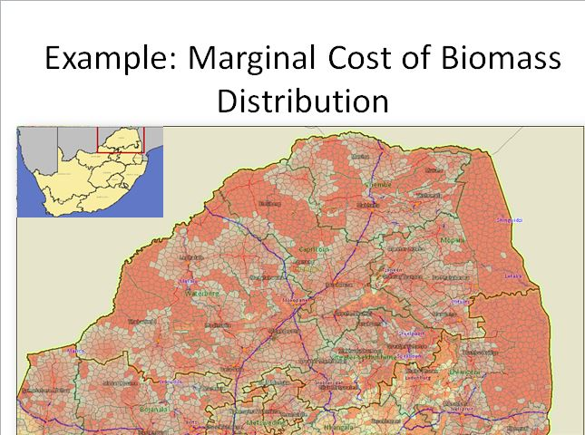 GeoEnergy biomass cost of distribution