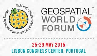 Geospatial World Forum 2015 Lisbon logo