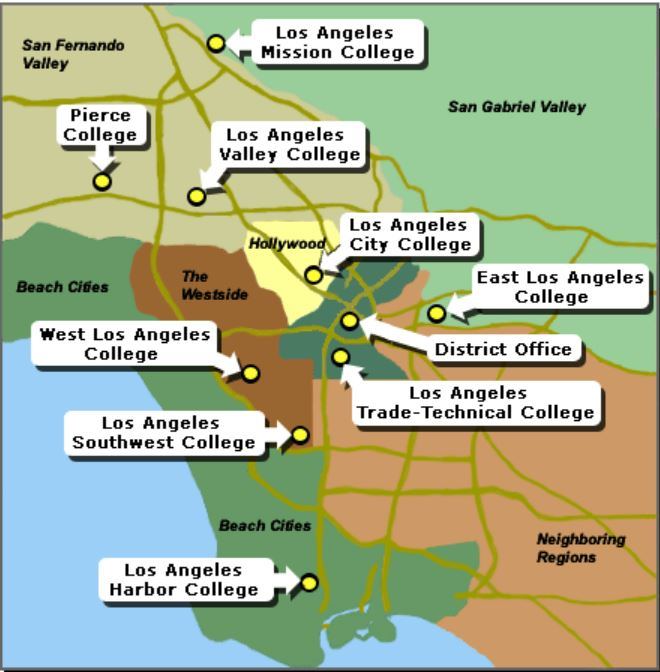 LACCD map