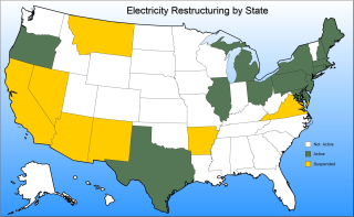 Electric power restructuring by state