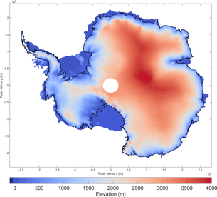 Antarctica 3D map Ice_height_medium