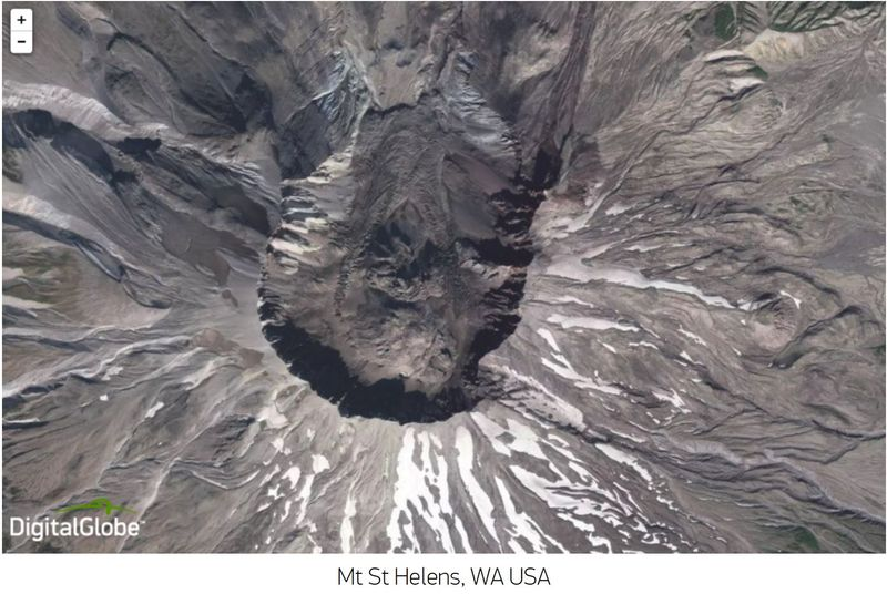 Mount St Helens Digital Globe 2016