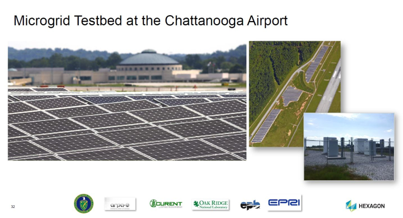 Chattanooga airport microgrid testbed