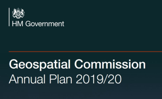 Geospatial Commision annual plan cover